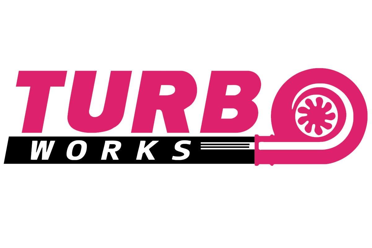 Naklejka TurboWorks Fioletowo-Czarna - GRUBYGARAGE - Sklep Tuningowy